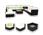 Moorebank 12PC Sofa Set & Storage Cover