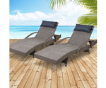 Mortlake Set of 2 Sun Lounge Day Bed