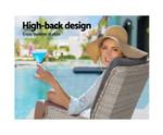 Mulgrav Recliner Chairs Sun lounge Set