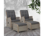 Narraweena 2 Recliner Chairs Sofa Lounger