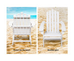 Narwee Wooden Set of 2 Patio Chairs