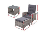 Enmore 5PC Recliner Chairs Table Lounge