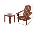 Eveleigh Brown Sun Lounge Chairs Table