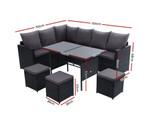 Fairlight Dining Set Sofa 9 Seater Storage