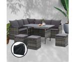 Glenorie Sofa Set 9 Seater Storage Cover