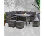Glenwood 9 Seat Dining Set Sofa Lounge