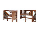 Balgowlah Brown Wooden Bench Chair Table