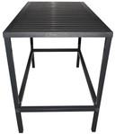 Aluminium Anthracite Cube Bar Table