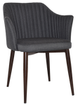 Coogee Metal Dark Walnut Arm Chair