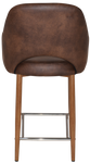 Albury 650 Metal Light Oak Arm Stool