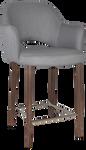 Albury 650 Metal Light Walnut Arm Stool