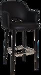 Albury 750 Metal Black Arm Stool