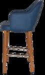 Albury 750 Metal Lightoak Arm Stool