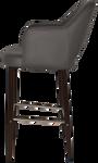 Albury 750 Metal Dark Walnut Arm Stool