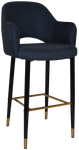 Albury 750 Metal Black Brass Arm Stool