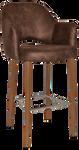 Albury 750 Metal Light Oak Arm Stool