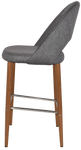 Chevron 750 Metal Light Oak Stool