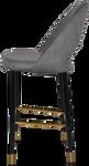 Chevron 750 Metal Black Brass Stool