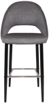 Chevron 750 Metal Black Stool