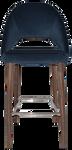 Chevron 750 Metal Light Walnut Stool