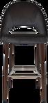 Chevron 750 Metal Dark Walnut Stool