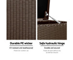 Aspley 320L Outdoor Wicker Storage Box