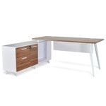 Volta Executive Office Desk With Storage - Left Return