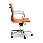 Eames Replica PU Leather Boardroom Chair - Mid Back - Orange