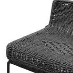 Summer Black Frame Cord Black Seat Bar Stool