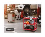 Geebung Tool Cart 3 Tier Parts Steel Trolley - Red