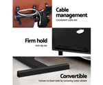 Rotating Black Height Adjustable Laptop Desk w/ Cooler Fan