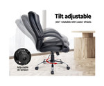 Executive Black PU Leather Computer Chair for Offices