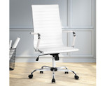 Eames White PU Leather Replica Office Chair - High Back