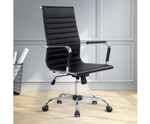 Eames Black PU Leather Replica Office Chair - High Back