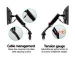 Black Double Desk Mounted Monitor Arms - C-Clamp/Grommet