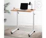 Portable Light Wood Height Adjustable Laptop Stand Desk