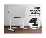 Height Adjustable Laptop Desk on Wheels - White