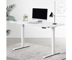 Electric Standing Desk with 1400mm Top - White
