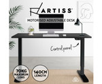 Electric Standing Desk with 1400mm Top - Black