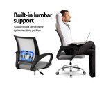 Henry Mid Back Computer Mesh Chair - Grey