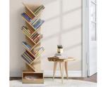 Henry Display 9 Tier - Natural Tree Bookshelf Rack Bookcase