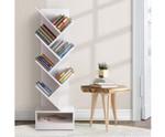 Henry Display 7 Tier- White Tree Bookshelf Book Rack Bookcase