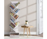 Henry Display 9 Tier- White Tree Bookshelf Rack Bookcase