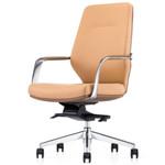 Peron Beige PU Leather Medium Back Office Chair