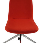 Johnson Red Fabric Visitor Reception Chair