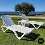 Aqua Sunlounger 3 Piece Package with Side Table (MOQ 2)