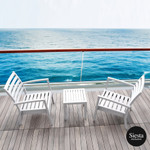 3 Piece Balcony Setting with Artemis XL Arm Chair and Ocean Side Table