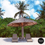Resin Rattan Sun Lounger 3 Piece Package with Tequila Side Table