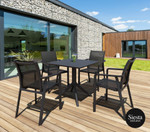 Sky 5 Piece Outdoor Table Setting with Pacific Arm Chairs