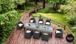 9 Piece Outdoor Rattan Aruba Armchair Dining Setting